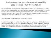 Backwater valve installation An Incredibly Easy Method That Works for