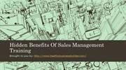 Hidden Benefits Of Sales Management Training