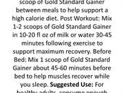 Optimum Nutrition Gold Standard Gainer Chocolate – 5 lbs