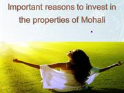 Important reasons to invest in the properties of Mohali