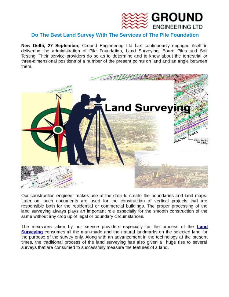 Do the Best Land Survey With the Services of the Pile
