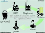 The Role of Transportation in Logistics Chain