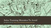 Sales Training Mistakes To Avoid