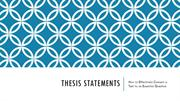 EQ Success and Failure Thesis Statements and Essential Questions