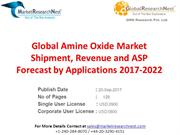 Global Amine Oxide Market Shipment, Revenue and ASP Forecast by Applic