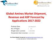 Global Amines Market Shipment, Revenue and ASP Forecast by Application