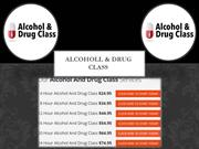 Drug and Alcohol Classes Online