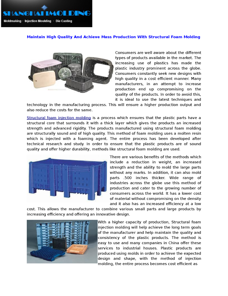 Structural Foam Injection Molding And Moldmaking |authorSTREAM