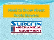 Need to Know About Roots Blowers