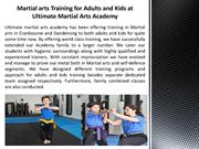 Martial arts Training for Adults and Kids at Ultimate Martial Arts Aca