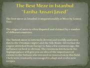 The Best Meze in Istanbul - Fariha Ansari Javed