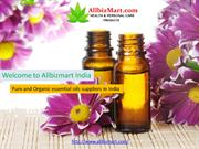 Pure and organic essential oils suppliers in India