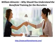 William Almonte – Why Should You Understand the Beneficial Training fo