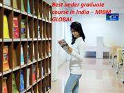 Best under graduate course in India at online education