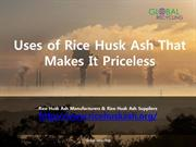 Uses of Rice Husk Ash That Makes It Priceless