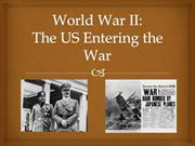 Reasons the US entered WWII