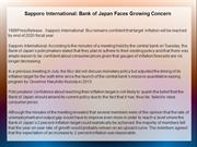 Sapporo International: Bank of Japan Faces Growing Concern
