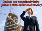 How listing in online construction directory is helpful?