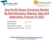 Asia-Pacific Power Connector Market By Manufacturers, Regions, Type An