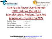 Asia-Pacific Power Over Ethernet (POE) Lighting Market By Manufacturer