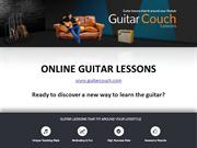 Online Guitar Lessons - Guitar Couch Lessons
