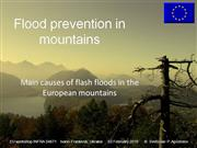 Main causes of flash floods in mountains