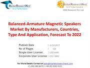 Balanced-Armature Magnetic Speakers Market By Manufacturers, Countries