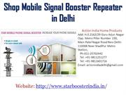 Shop Latest Mobile Signal Booster Repeater in Delhi India