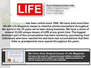Buy Life Magazine from the Year 1996 from Old Life Magazines