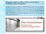 Garage Door Mart Inc. Offers A Ultimate Advantages of Installation of