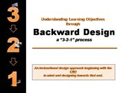 Understanding Backward Design Learning Objectives