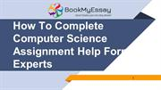 Computer Science Assignment Help From Experts