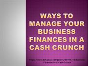Ways to Manage your Business Finances in a Cash Crunch