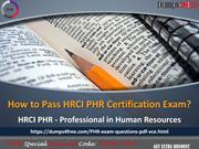 HRCI PHR (Professional in Human Resources) Practice Test