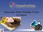 Panoramic Photo Printing - Create an Impact