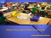 Things To Know About Toddler Development - Primanti Montessori School