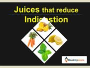 Stay Healthy!- Reduce Indigestion with these Juices - BookMyScans