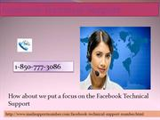 Can I Get Facebook Technical Support 1-850-777-3086 At Anytime?