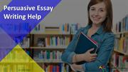 Get Complete Solution for Persuasive Essay Writing at BookMyEssay.com