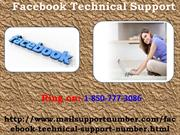 For Better Response take Facebook Technical Support 1-850-777-3086