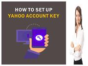 How to Set up Yahoo Account Key in Email Account