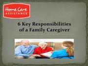 6 Key Responsibilities of a Family Caregiver