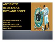 ANTIBIOTIC RESISTANCE 1