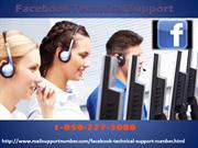 Are You Looking Forward For Facebook Technical Support? 1-850-777-3086