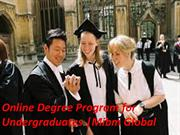 A degree of Online Degree Program for Undergraduates