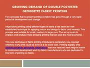 Growing Demand of Double Polyester Georgette Fabric Printing