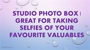 Studio Photo Box Great For Taking Selfies Of Your Favourite Valuables