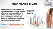 cleaning of hearing aid with proper maintenance and care