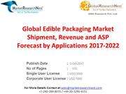 Global Edible Packaging Market Shipment, Revenue and ASP Forecast by A