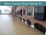 Water Damage Repair, Restoration at Raleigh North Carolina